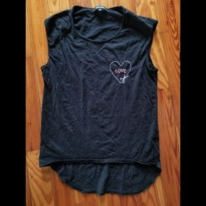 Love Embroidered Muscle Tank
